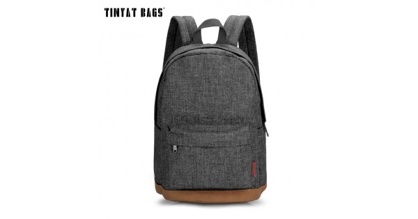 color brilliancy great deals Clearance sale TINYAT Backpack Men Male Canvas College Student School Backpack Casual  Rucksacks Laptop Backpacks Women Mochila T101 Gray