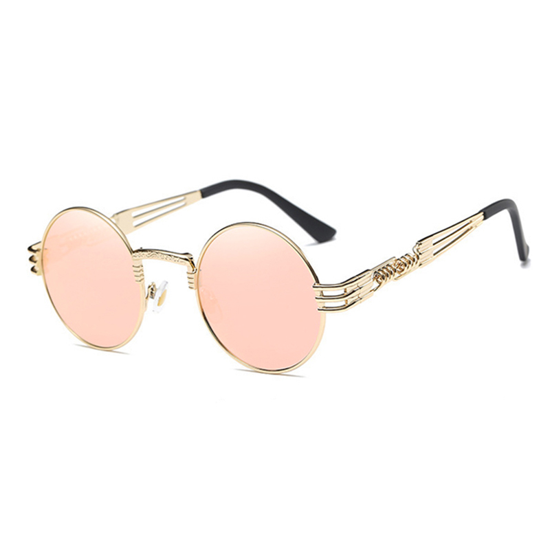 3a57fbcaf0 TSHING RAY Men Women Gothic Steampunk Sunglasses Metal Wrap Eyeglasses  Round Shades Designer Sun glasses Mirror Female Eyewear