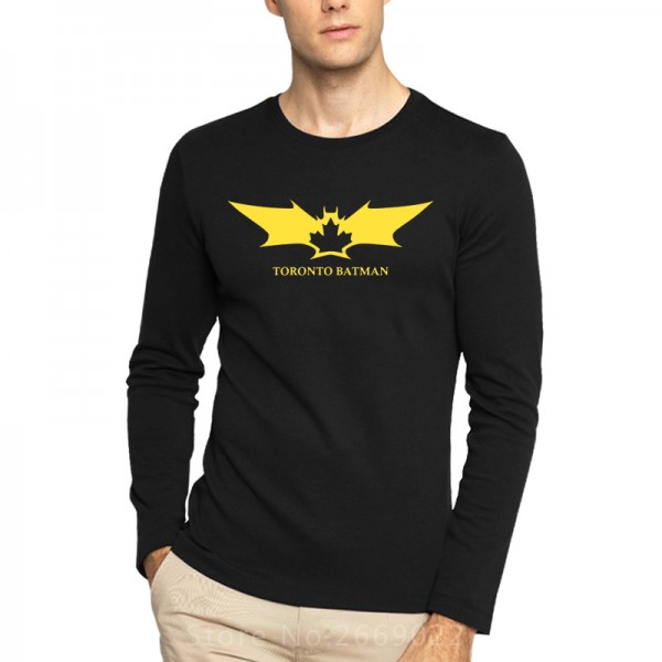The Avengers Batman Toronto Printed Mens Men T Shirt Tshirt Fashion 2016 New Long Sleeve Cotton T-shirt Tee Camisetas Hombre