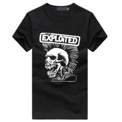 The Exploited print men's fashion t-shirts Cute punk Skull Graphics brand tee shirt Hip Hop Casual Fitness homme Swag clothing