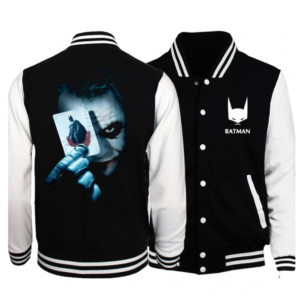 The Joker Poker print men jacket 2017 spring fashion Batman Super Villain Heath Ledger brand clothing sweathsirts funny hoodies