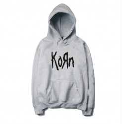 The new  Hoodie and KORN printing O fashionable men and women Fleece Hoodie neck in autumn and winter