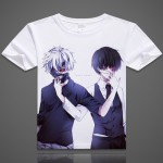 Tokyo Ghoul digital printed hot anime Tokyo Ghoul t shirt clothes Ken Kaneki short-sleeve Tokyo Ghoul T-shirt men tshirt