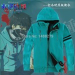 Tokyo Ghouls Ken Kaneki Unisex Blue Hoodie Cotton Fleece Hooded Zipper Coat Casual Clothes