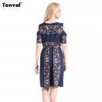 Tonval Women Vintage Printed Boho Summer Dress 2016 Ethnic Style Cute Off Shoulder Casual Dresses 6XL Plus Size Clothing Dress