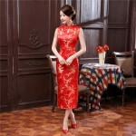 Top Selling Traditional Chinese Style Dress Women's Long Cheongsam Elegant Slim Qipao Clothing Size S M L XL XXL XXXL J3038