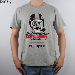 Triumph Distinguished Gentlemen in Action T-shirt Top Pure Cotton Men T shirt New Design High Quality