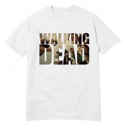 USAprint Fashion The Walking Dead Print Tee Shirts Male Movie Logo Men Clothing Cotton Man Camisetas Homme Graphic Top Wholesale