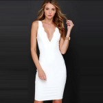Vestidos Summer 2016 New Arrival Women Fashion White Elegant Sexy Off Shoulder Slash Neck Causal Knee Length Lace Sleeve Dresses