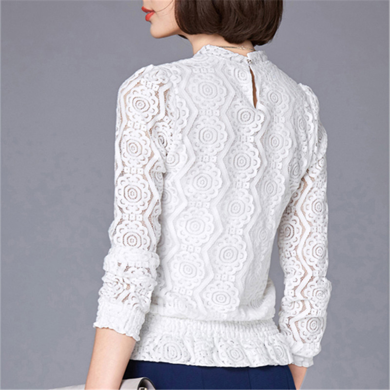 cfe999e70ea46b VogorSean Women New Fashion Elegant Blouses Shirts Loose Long Sleeve Lace  Tops Blouse Shirts For Women ...