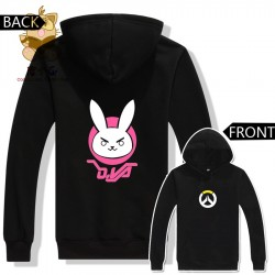 Warm autumn winter anime game hoodies WATCH OVER dva lovely cute rabbit two colors printing DVA hoodies ac228