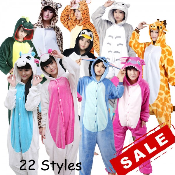 a5bb5899c1 Wholesale Unicorn Stitch Panda Unisex Flannel Hoodie Pajamas Costume Cosplay  Animal Onesies Sleepwear For Men Women Adults Child