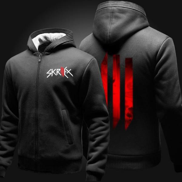 Winter Thicken Warm solid Skrillex OWSL Hoodies sweatshirt Men Wome DJ Music Clothing Hip-hop Bar Coat
