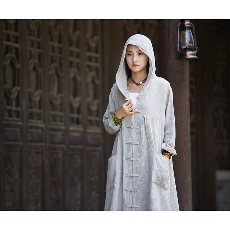 Women Asymmetric Hem Hoodies Plus Size Vintage Cloak High