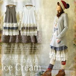 Women Mori Girl Sweet Lace Layer Lolita Ruffles Maxi Pleated Loose Casual Tunique Vestido Oncinha Cute Kawaii Female Dress C180