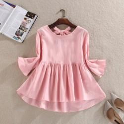 Women Shirts Loose Half Sleeve Slim Back Iris Cotton Doll Sets Linen Blouse Shirt Sky Blue White Pink Red Green 3697