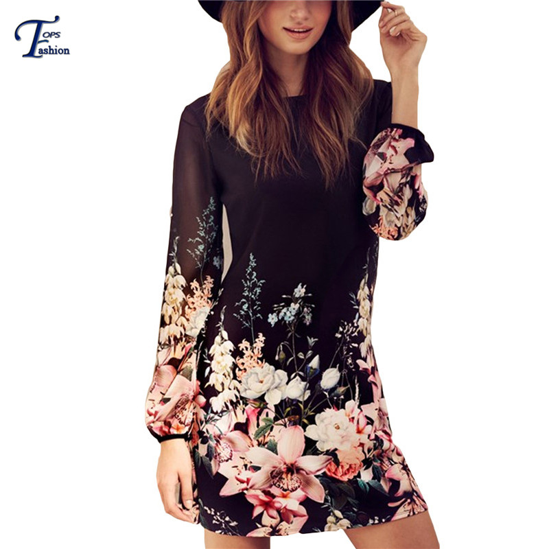 Women Spring Style 2016 Newest Shift Dresses Beautiful Black Long