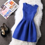Women Summer Dress 2018 Solid Elegant Party Dresses Female Ball Gown Vintage Red Blue Pink White Dress Plus Size XXL Vestidos