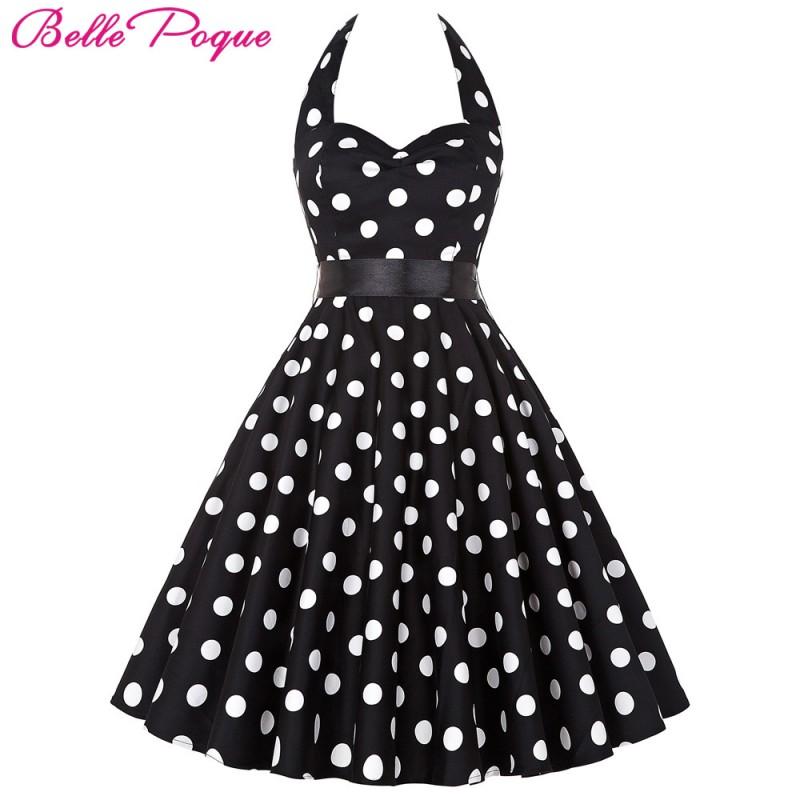 Women Vintage 50s Summer Big Swing Dress Plus Size Clothing ...