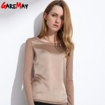 Women's shirts  Blouses 2017 long sleeve formal chiffon blouses white black 9 color silk tops and tees slim Y046
