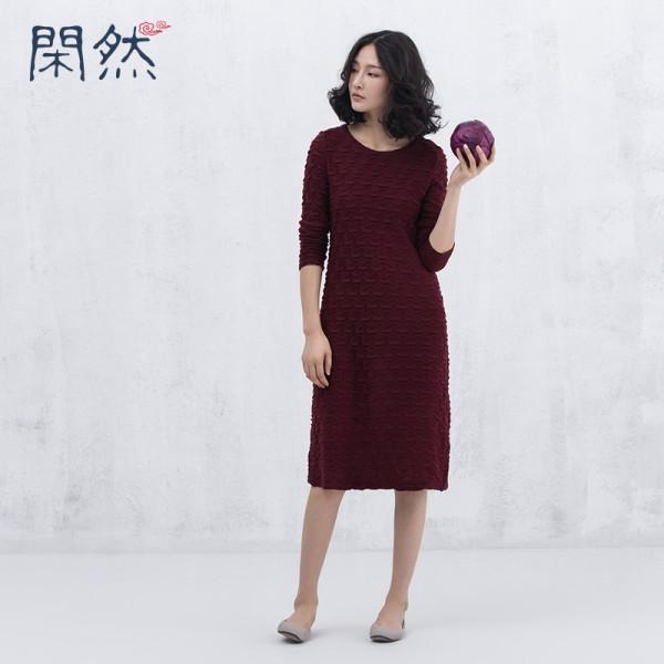XianRan Women Knit Dress Wave Long Bottoming Dress Casual Plus Size ...