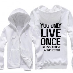 "YOLO"" syfy demon hunters winchester brothers supernatural Hoodies"