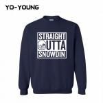 Yo-Young Mens Casual Sweatshirt UNDERTALE SANS STRAIGHT OUTTA SNOWDIN Printed chandal hombre moleton masculino Customized