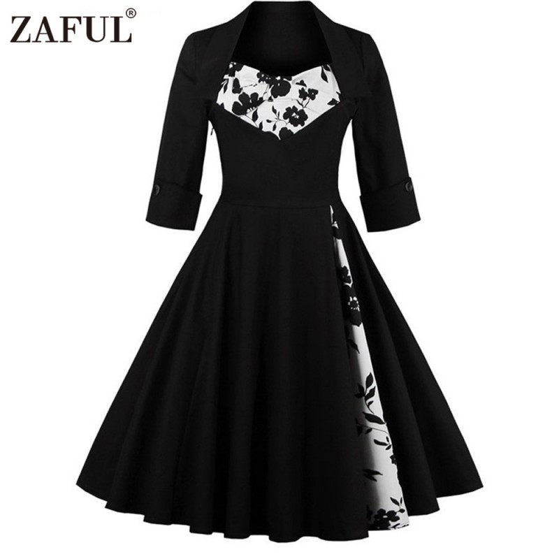 ZAFUL UK Women plus size clothing Audrey hepburn 50s Vintage elegant ...