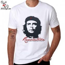 ZiLingLan Che Guevara Hero Printed Cotton Men T shirt Short Sleeve Casual t-shirts Hipster Pattern Tees Cool Tops US/EUR Size
