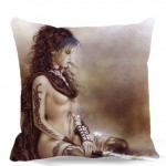 """bedroom/chair/car/sofa seat 16"""" 18"""" 20"""" 9 style Blue dress sexy girl lit the fire in hand Square Cushion cover Cotton polyester"""