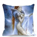 "bedroom/chair/car/sofa seat 16"" 18"" 20"" 9 style Blue dress sexy girl lit the fire in hand Square Cushion cover Cotton polyester"