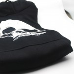 cotton Blend SKULL print men Hoodies with hat fleece casual loose men pullover hooded skull sweatshirt for man 2016 H01