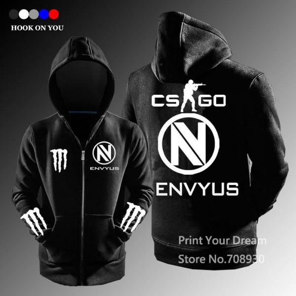 free shipping CSGO Gaming Team Envyus Team zipper hoodies ...