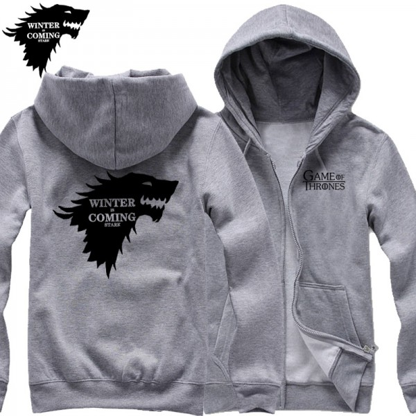 free shipping WINTER IS COMING STARK Game of Thrones Winterfell wolf blood Direwolf man  cardigan