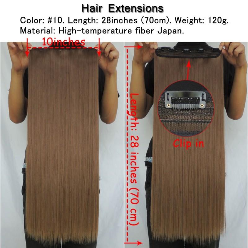 Hair Extension False Synthetic Japanese Fiber Super Long Clip In