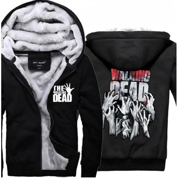 hip hop hoodies The Walking Dead sweatshirts men 2016 new winter thicken man hoodie men's sportswear casual plus size M-4XL