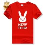 hot lovely t shirt DVA t shirt D.VA NERF THIS! Words printing high quality cotton t shrit ac229