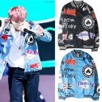 kpop 2016 new BTS Bangtan Boys Mood for Love The same paragraph coat Baseball uniform SUGA Bigbang Korean version Hoodies jacket