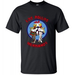 male T Shirts Tops brand clothing hipster 2017 Breaking Bad LOS POLLOS Hermanos Men T Shirt Funny Chicken Brothers streetwear