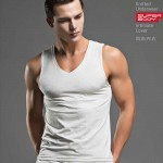 men'sTees cotton fashion home sleep Casual Solid t-shirts white big size O-neck tight modal white free size