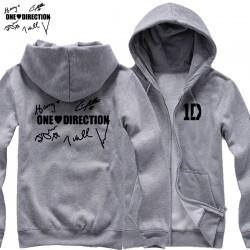 new 2017 free shipping I LOVE One Direction members' signature Niall Zayn Liam Harry Louis Handwriting man  cardigan