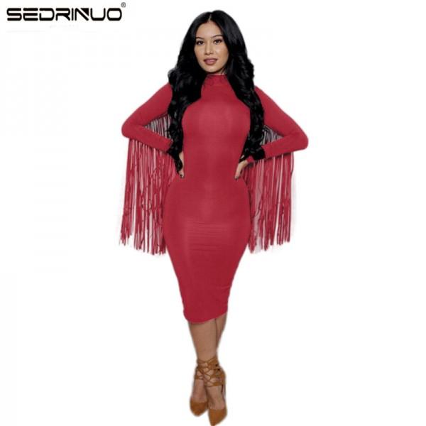 Sexy Club Dress 2016 Women Autumnwinter Party Dresses Long Sleeve