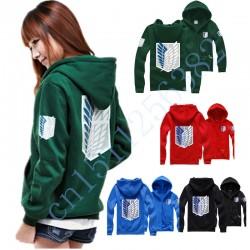 shingeki no kyojin attack on titan hoodies movie costumes anime cosplay hoodies men women suit coat black XXL for couples cotton