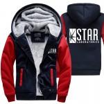 superman series hoody STAR S.T.A.R.labs jumper the flash gotham city comic black sweatshirt men 2017 autumn winter thick jacket
