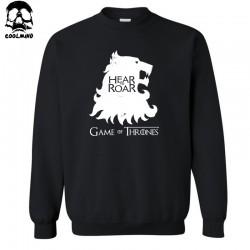 top quality cotton blend Game of Thrones crewneck men hoodies casual HEAR ME ROAR print men's sweatshirt C01