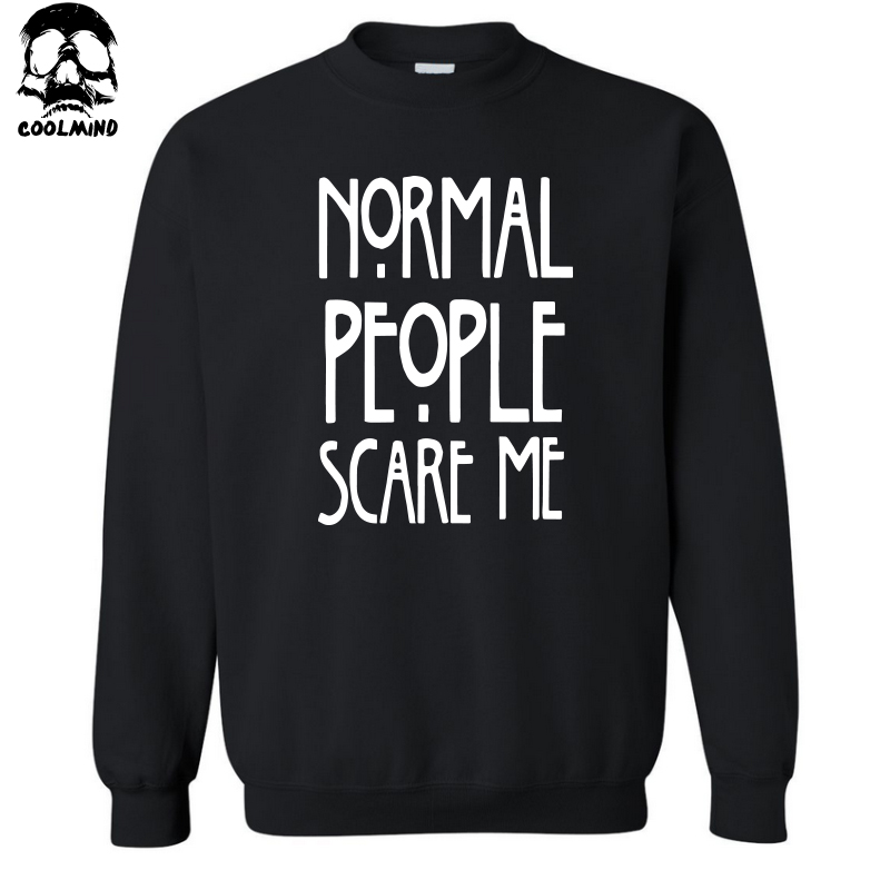 top quality cotton blend NORMAL PEOPLE SCARE ME print men