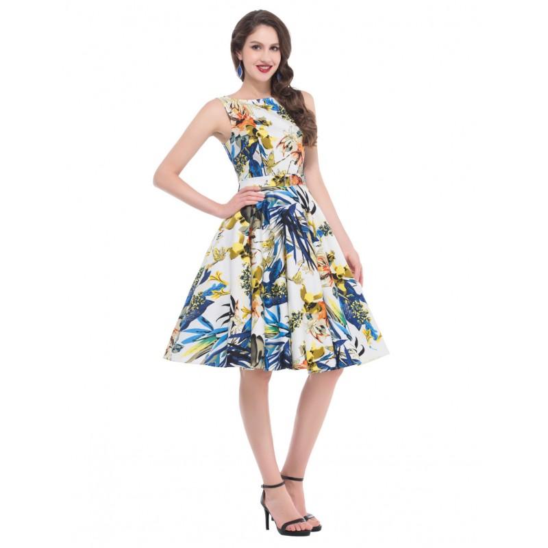 Vestidos Pin Up Rockabilly Dresses 2016 Floral Printed Full