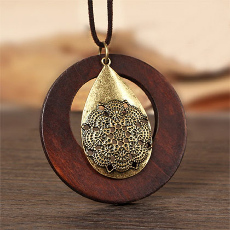 Vintage woman necklaces jewelry statement necklaces pendants vintage woman necklaces jewelry statement necklaces pendants wooden pendant collares mujer choker necklace women long necklace aloadofball Gallery