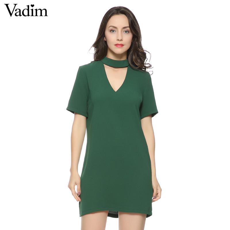 Sexy Short Black V-Neck Dress