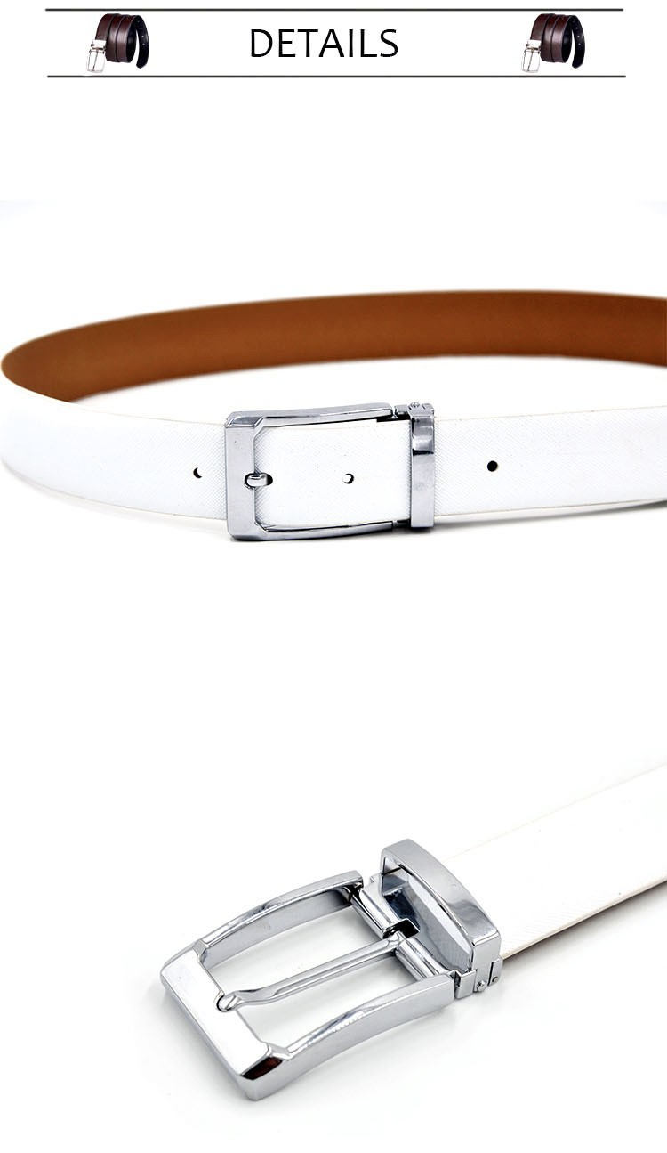 -Men39s-Genuine-Leather-Belt-Waist-Metal-Buckle-Belts-With-Toothpick-Pattern-White-Dress-Belt-And-Bl-32742172527